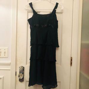 Vintage 1920s Black multilayer/ruffle dress!